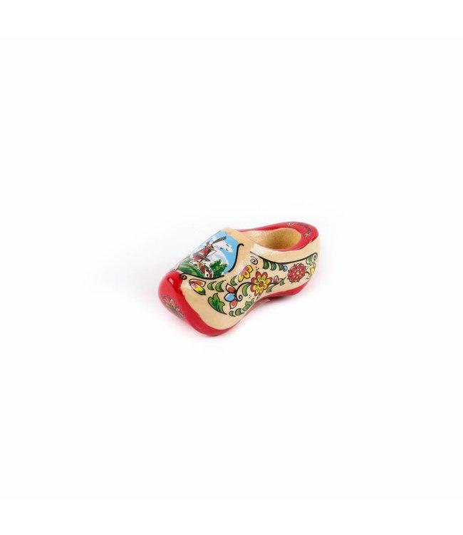 12 stuks Magneet klomp enkel Holland rode zool 6 cm