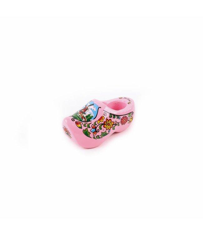 12 stuks Magneet klomp enkel Holland roze 6 cm