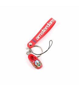 12 stuks Sleutelhanger strap met klomp rood Amsterdam