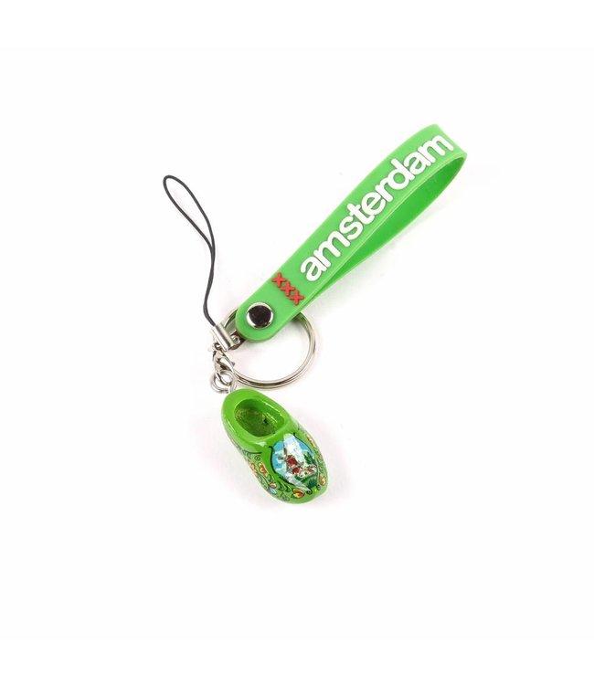 12 stuks Sleutelhanger strap met klomp groen Amsterdam