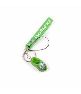 12 stuks Sleutelhanger strap met klomp groen Holland
