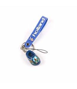 12 stuks Sleutelhanger strap met klomp blauw Holland