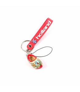 12 stuks Sleutelhanger strap met klomp rode zool Holland