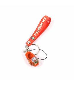 12 stuks Sleutelhanger strap met klomp oranje Holland