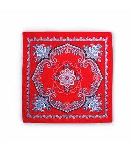 10 stuks Zakdoek 63 x 63 cm rood klaver vier