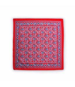 10 stuks Zakdoek 63 x 63 cm rood allover patroon