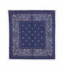 10 stuks Zakdoek 63 x 63 cm blauw decor Paisley