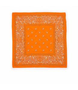 10 stuks Zakdoek 63 x 63 cm oranje decor Paisley