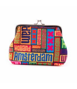 Knip portemonnee groot Amsterdam XXX multicolor