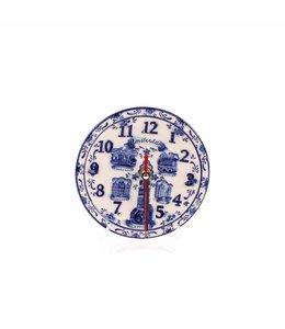 Delftsblauw embossed klok bord 15 cm Amsterdam