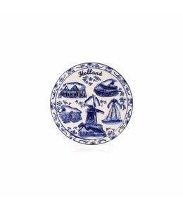 Delftsblauw embossed bord 15 cm Holland