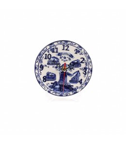 Delftsblauw embossed klok bord 15 cm Holland