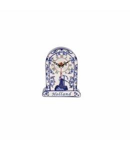 Delftsblauw embossed staande klok Holland