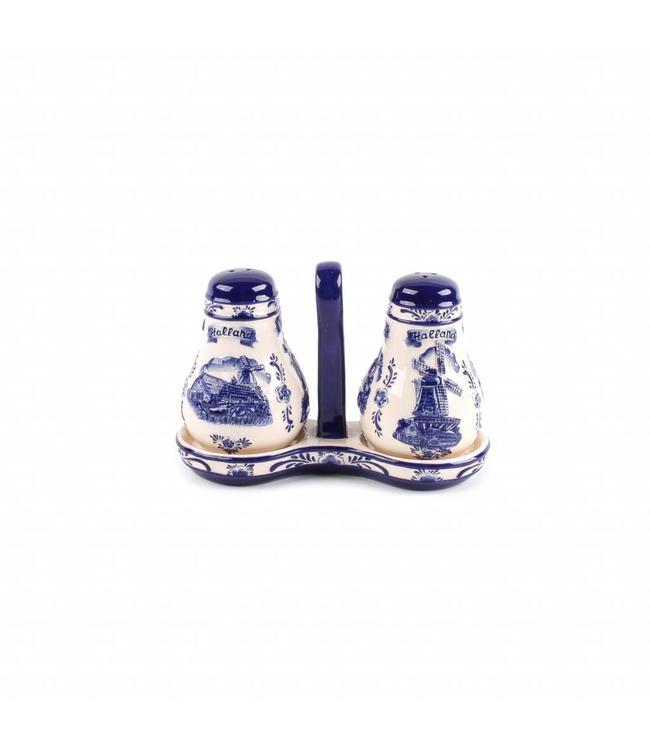 Delftsblauw embossed peper en zout Holland