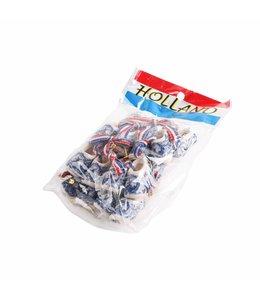 10 stuks Klomp paar corsage 4 cm delftsblauw in zak