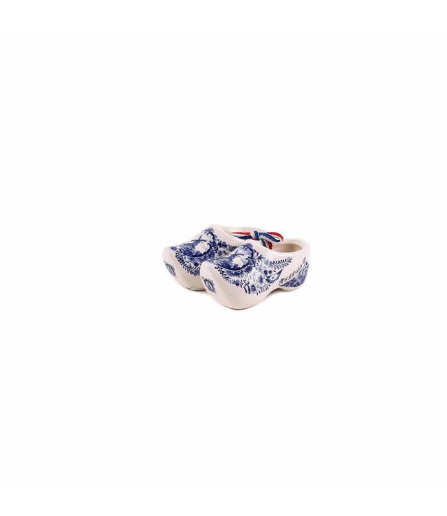 12 stuks Klomp paar 7 cm delftsblauw