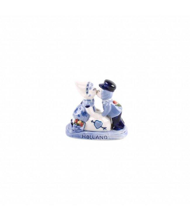 Kuspaar 10 cm love Holland delftsblauw