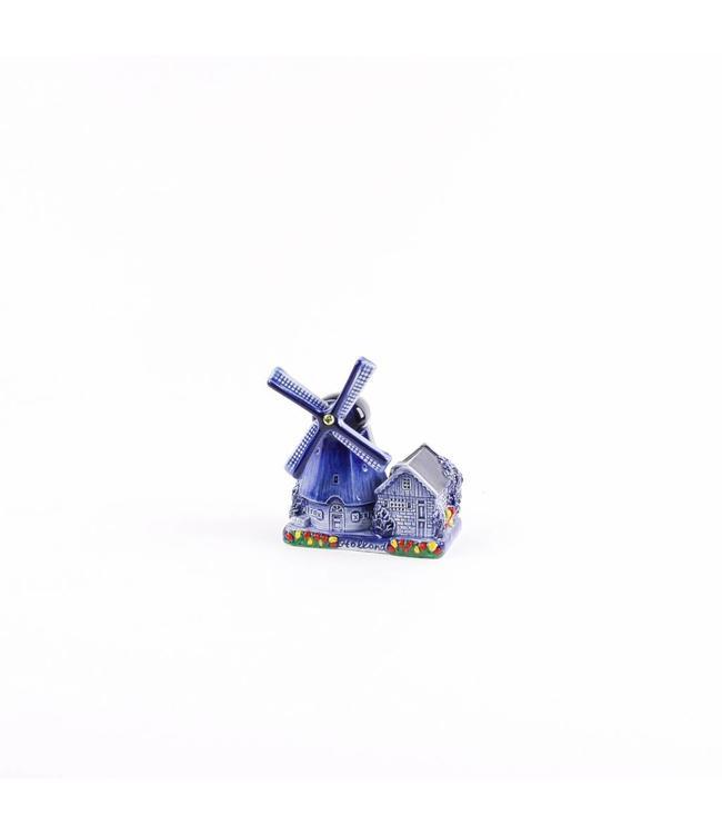 Poldermolen delftsblauw Holland 10 cm