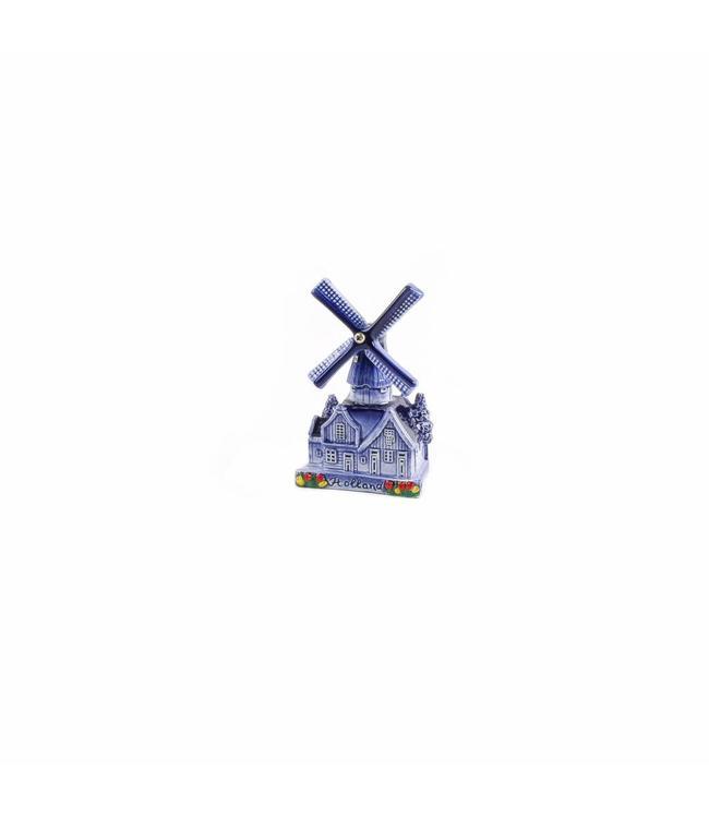 Dorpsmolen delftsblauw Holland 10 cm
