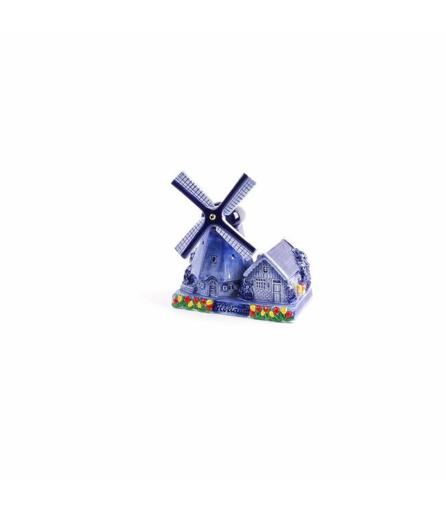 Poldermolen huisje delftsblauw Holland 14 cm
