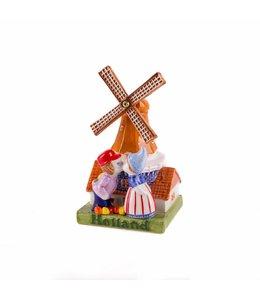 molen met kuspaar 14 cm color Holland