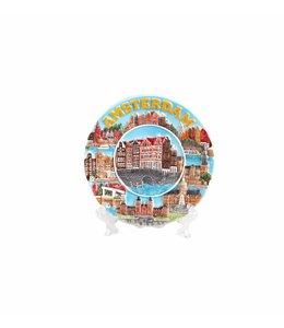 Bord 10 cm mix gracht Amsterdam color 'Zuiderzee'