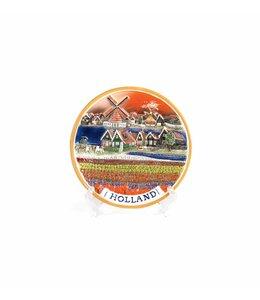 Bord 10 cm landschap tulpenveld color 'Zuiderzee'