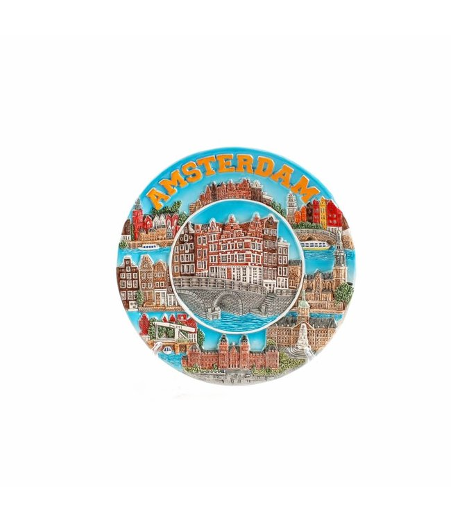 Bord 20 cm compilatie Amsterdam color �Zuiderzee�