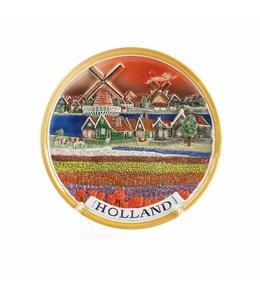 Bord 25 cm Holland landschap color �Zuiderzee�