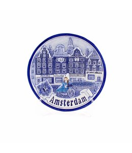 Bord 15 cm delftsblauw Amsterdam gracht 'Zuiderzee'
