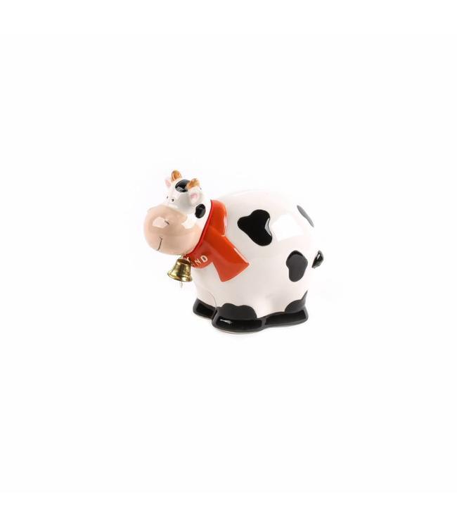 Bolle koe zwart/wit spaarpot