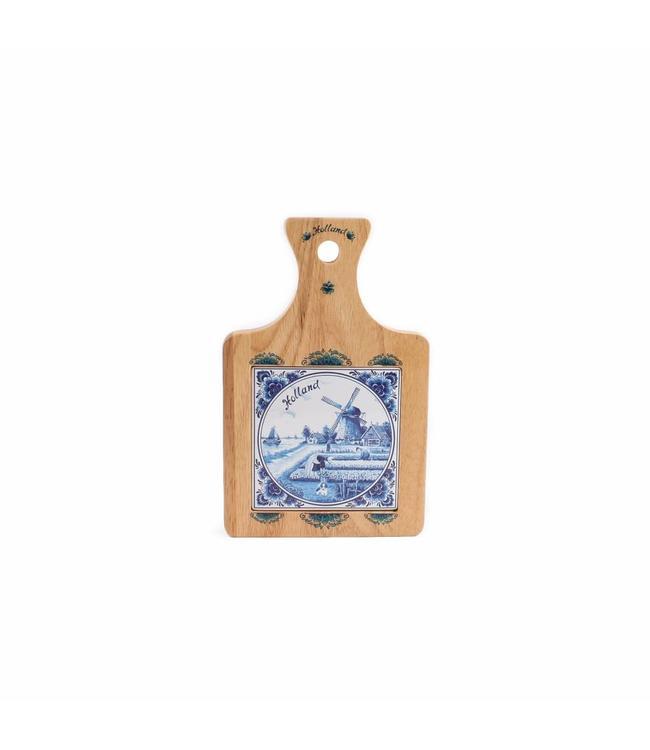 Kaasplank 22 x 14 cm delftsblauw holland
