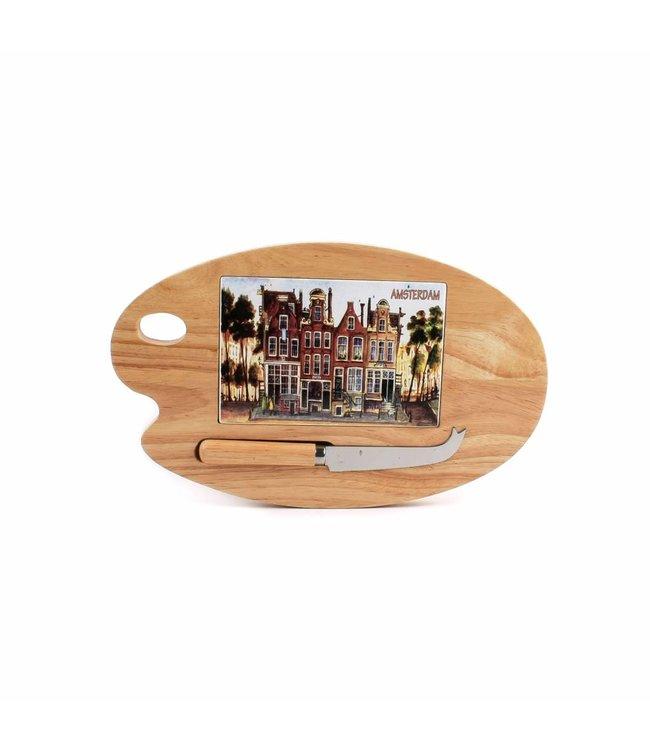 Kaasplank palet color 26 x 16 cm Amsterdam