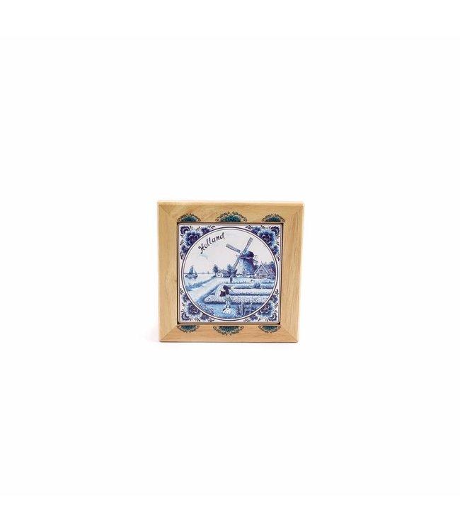 Hotplate 14 x 14 cm delftsblauw Holland