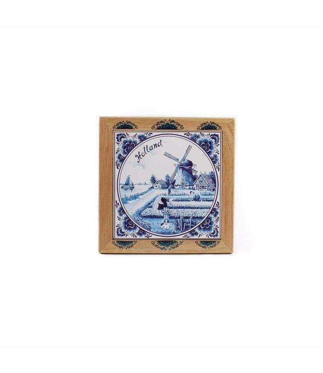 Hotplate 19 x 19 cm delftsblauw Holland