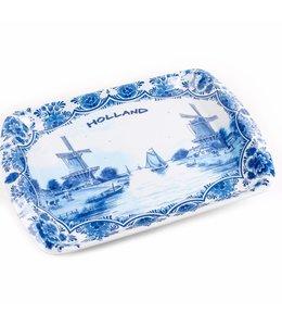 6 stuks Dienblad delftsblauw Holland 26 x 18 cm
