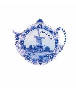 6 stuks Theezakjeshouder delftsblauw Holland