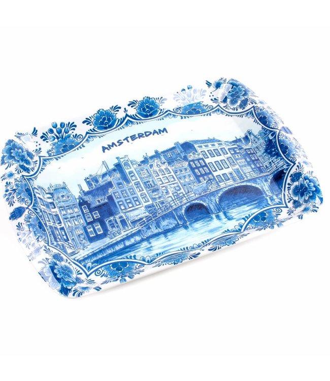 6 stuks Dienblad delftsblauw Amsterdam 26 x 18 cm