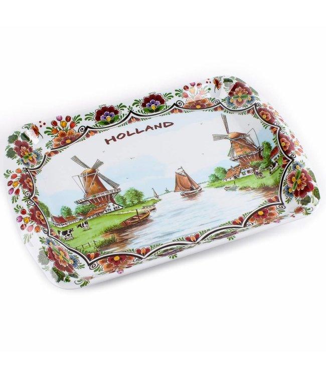 6 stuks Dienblad color Holland 26 x18 cm