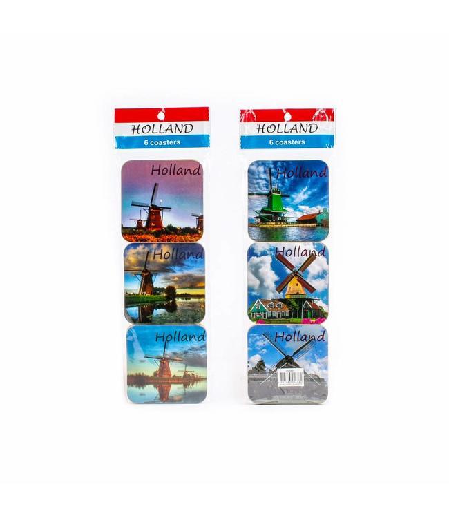 Coasters molen color Holland