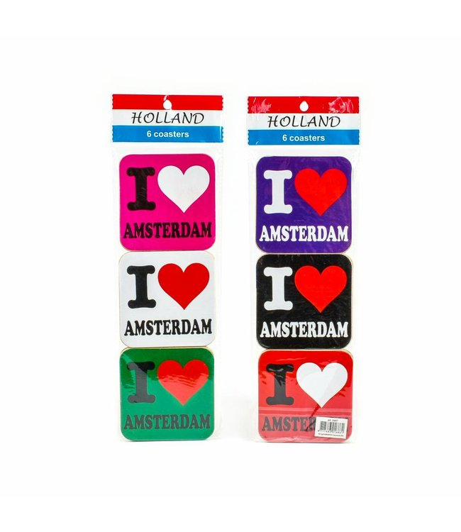 Coasters I love Amsterdam