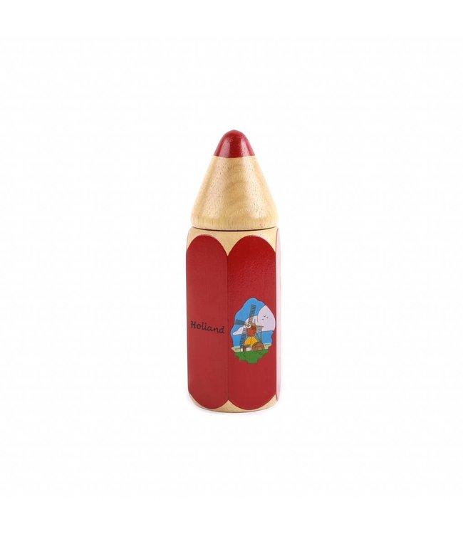 4 stuks Holle potlood rood