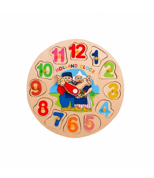Houten puzzel Holland klok