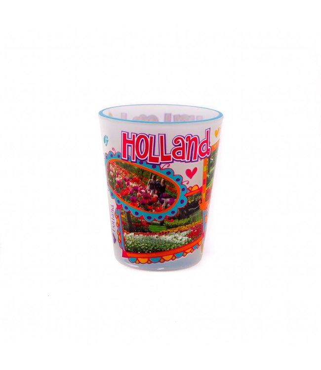 6 stuks shotglas love Holland