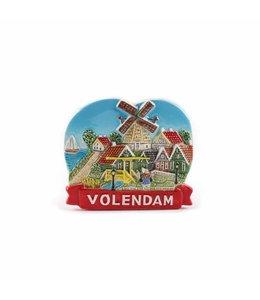 12 stuks Magneet molen met tulpen color Volendam