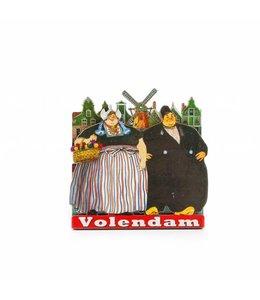 12 stuks Magneet 2D MDF dikke man en vrouw Volendam