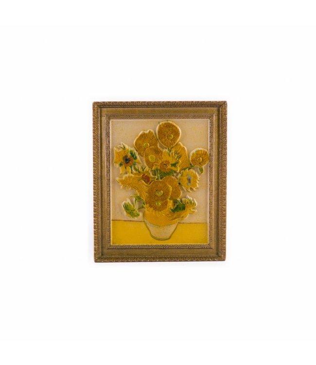 12 stuks magneet polyprint Zonnebloemen - Vincent van Gogh