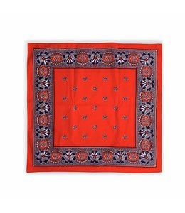 10 stuks Zakdoek 63 x 63 cm rood decor Paisley