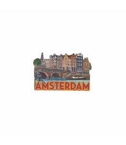12 stuks magneet MDF Amsterdam Papeneiland