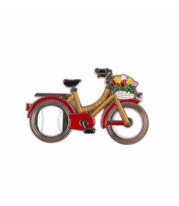 12 stuks opener in wiel magneet fiets Holland rood/oranje